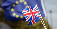 Флаг Великобритании и Европейского Союза (ЕС). Архивное фото