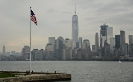 Вид на Манхэттен в Нью-Йорке. Архивное фото