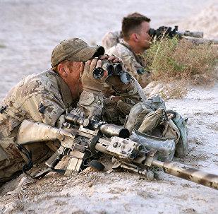 Канадские снайперы во время учений. Архивное фото