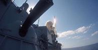 Калибрами по пункту управления ИГ* в Хаме — видео Минобороны РФ