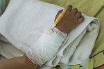 Ребенок в больничной палате. Архивное фото