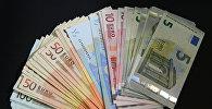 Купюры евро разного номинала. Архивное фото