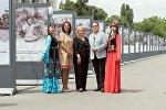 Открытие фотовыставки Дети Кыргызстана – связь времен на площади Ала-Тоо в Бишкеке