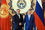 Президент Алмазбек Атамбаев Мамдуманын төрагасы Вячеслав Володин менен жолугушуу учурунда
