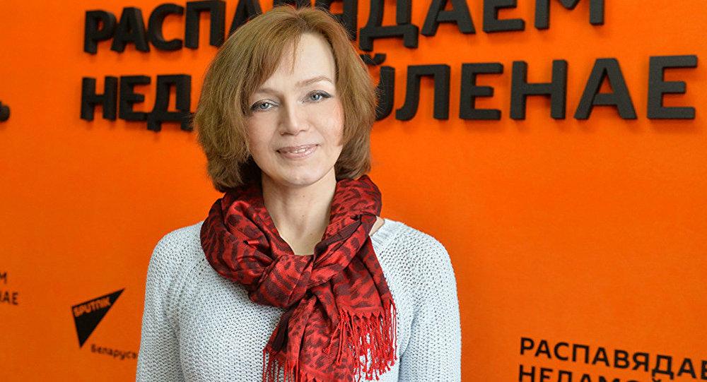 Тренер-психолог международного класса Лилия Ахремчик во время интервью на радио Sputnik Беларусь. Архивное фото