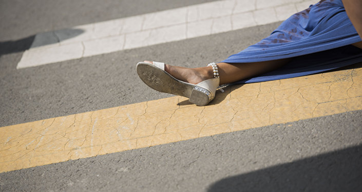Девушка пострадавшая в ДТП. Архивное фото