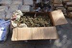 Марихуана в коробке. Архивное фото
