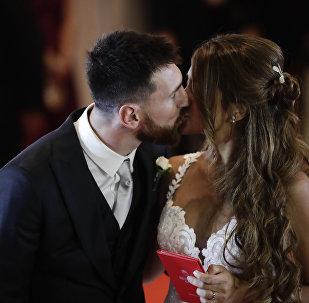 Свадьба легендарного футболиста испанской Барселоны Лионеля Месси и Антонеллы Рокуццо