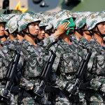 Солдаты Гонконгского гарнизона Народно-освободительной армии Китая