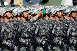Солдаты армии Китая. Архивное фото