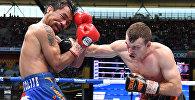 Филиппиндик боксчу Мэнни Пакьяо WBO версиясы боюнча чемпиондук үчүн өткөн беттеште утулуп калды.