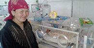 Мать Тураргуль Осмонова, родившая тройню в Иссык-Кульской областной больнице