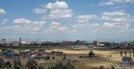 Вид на город Бишкек. Архивное фото