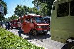 Бишкектеги маршруткалардыр рейди. Архивдик сүрөт