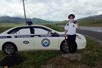 Бишкек — Ош автожолуна кызматта турган Кайгуул милициясынын макети коюлган