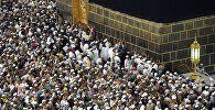 Паломники во время хаджа. Архивное фото