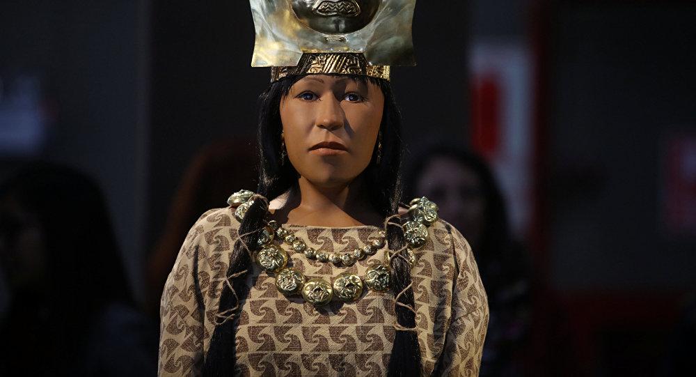Ученым в Перу с помощью 3D-печати удалось восстановить лицо древней женщины которая предположительно была могущественным политическим