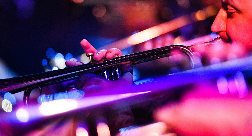Музыканты джаз-бэнда. Архивное фото