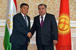 Кыргызстандын президенти Сооронбай Жээнбеков жана Тажикстандын башчысы Эмомали Рахмондун архивдик сүрөтү