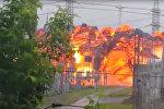 Мощный врыв на электроподстанции в Томске попал на видео