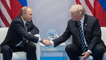 Россия лидери Владимир Путин жана АКШ президенти Дональд Трамп. Архив