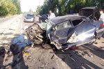 Последствие автоаварии на трассе Бишкек — Токмок, где погибли три человека