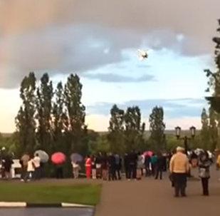 Падение самолета в Тамбове попало на видео