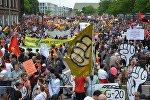 Акция протеста в связи с проведением саммита Группы двадцати в Гамбурге