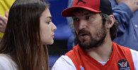 Архивное фото хоккеиста Александра Овечкина и актрисы Анастасии Шубской