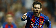 Аргентина курама командасынын чабуулчусу жана испаниялык Барселона клубунун оюнчусу Лионель Мессинин архивдик сүрөтү