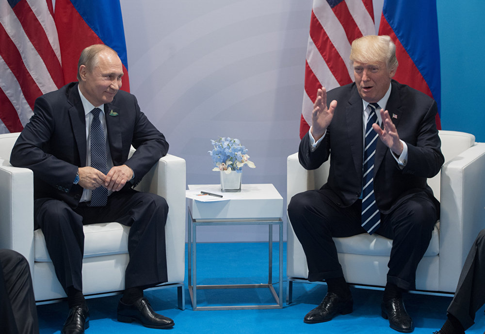 Гамбургда Чоң жыйырмалык саммитинин алкагында Россия президенти Владимир Путин менен АКШ лидери Дональд Трамптын жолугушуу учуру