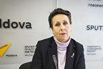 Психолог, доктор наук Елена Ковалева во время интервью Sputnik Молдова