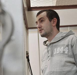 Илья Пьянзин, обвиняемый в подготовке покушения на Владимира Путина, в зале заседания Лефортовского суда