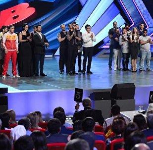 Бишкекская КВН-команда Азия MIX на Летнем кубке — 2017 в Астане (Казахстан).
