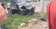 Сильная авария на перекрестке в Бишкеке попала в камеры наблюдения