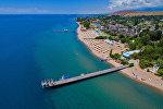 Пляж озера Иссык-Куль. Архивное фото
