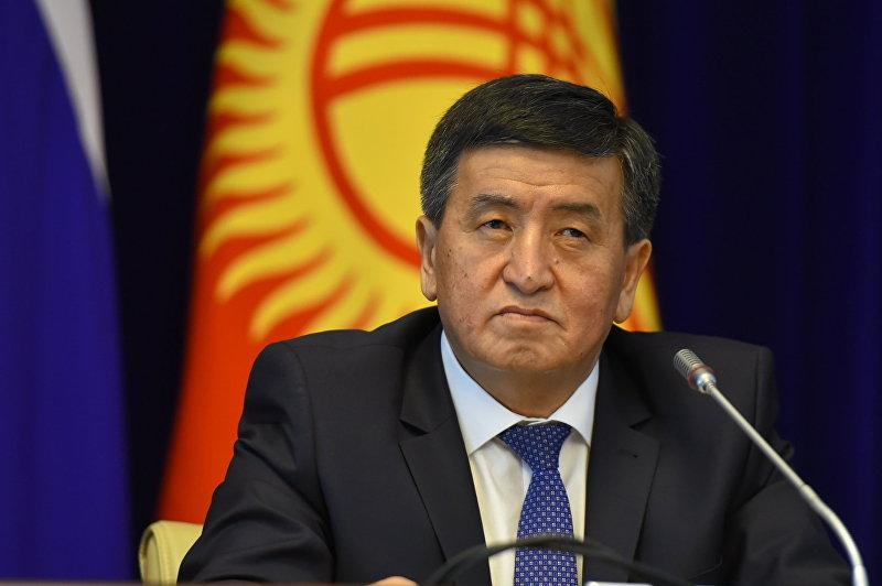 Премьер-министр Кыргызской Республики Сооронбай Жээнбеков на заседании Совета глав правительств Содружества Независимых Государств. Архивное фото