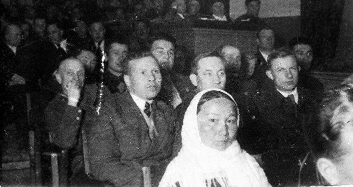 Заседание Верховного Совета Киргизской ССР в 1939 году. Архивное фото