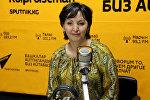 Международный менеджер программного офиса Управления по наркотикам и преступности ООН Вера Ткаченко во время интервью Sputnik Кыргызстан
