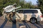 Таш-Көмүр шаарында оор жүк ташуучу МАN унаасы менен Honda Stepwgn жана Honda Odyssey унаалары кагышкан
