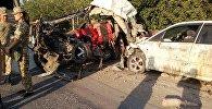 ДТП на трассе Бишкек — Ош с участием трех машин