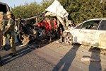 8 кишинин өмүрүн алган Бишкек — Ош унаа жолунун 460-чакырымындага жол кырсыгы. Архив
