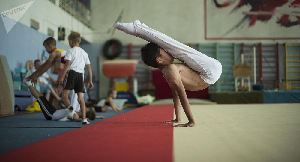 Школа олимпийского резерва по спортивной гимнастике и акробатике. Архивное фото