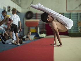 Воспитанник специализированного зала для спортивной гимнастики в РУОР