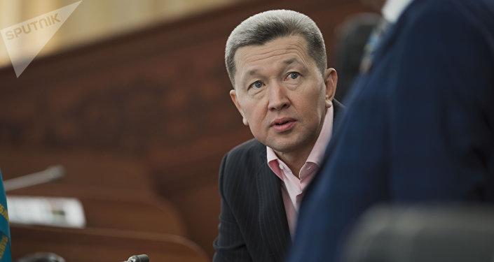 Архивное фото депутата ЖК от фракции Бир Бол Джаныбека Бакчиева