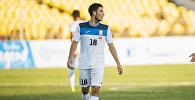 Футболист молодежной сборной Кыргызстана (U-23 ) по футболу на матче Кыргызстан — Иран