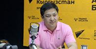Бүткүл дүйнөлүк кулатуу эр таймаш федерациясынын президенти Руслан Кыдырмышевдин архивдик сүрөт