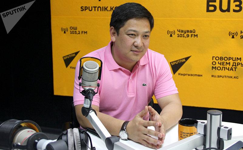 Президент WEF (World ertaymash Federation) Руслан Кыдырмышев во время интервью Sputnik Кыргызстан