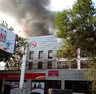 Пожар на пересечении улиц Горького и Тыныстанова
