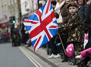 Военный парад в Уилтшире в Англии